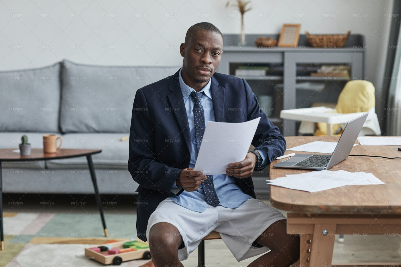 Man Working From Home: Stock Photos