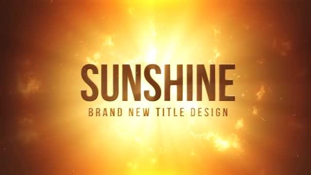 Sunshine Title Design: Motion Graphics Templates