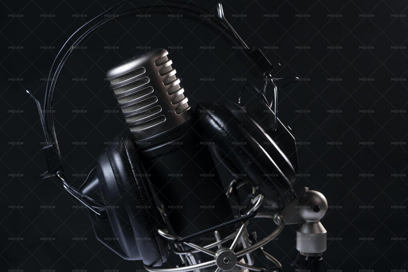 Microphone And Headphones: Stock Photos