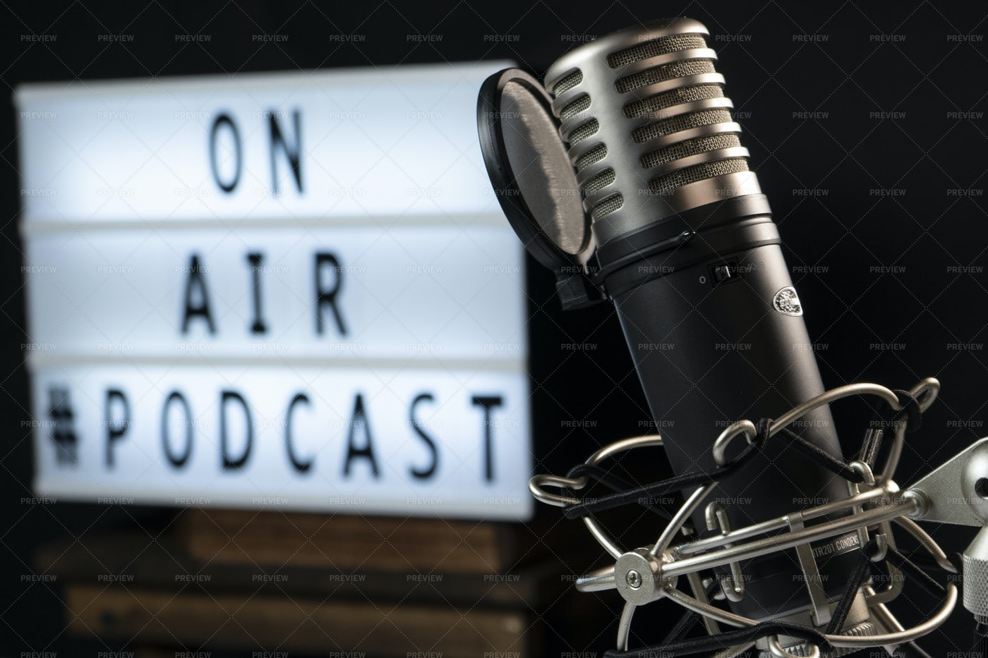 Podcast Setting Workplace: Stock Photos