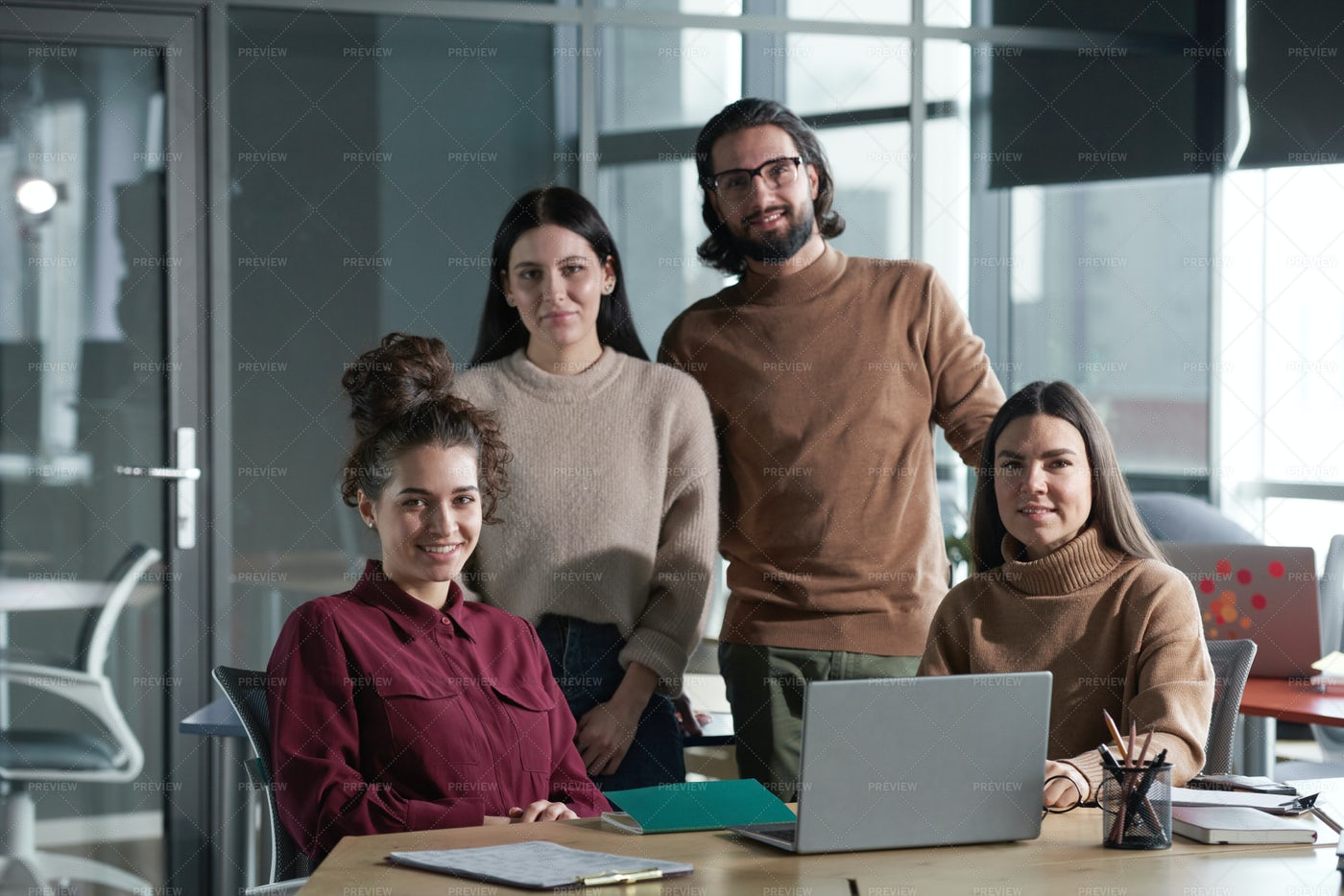 Business Team Working At Office: Stock Photos