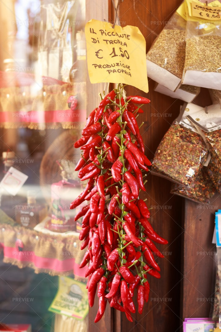 Tropea Red Chili Pepper: Stock Photos