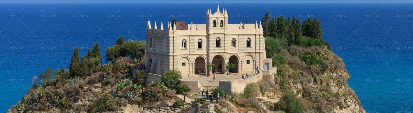 Tropea Church On Cliff: Stock Photos