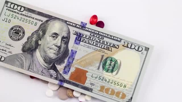 Cash Tossed Over Drugs : Stock Video