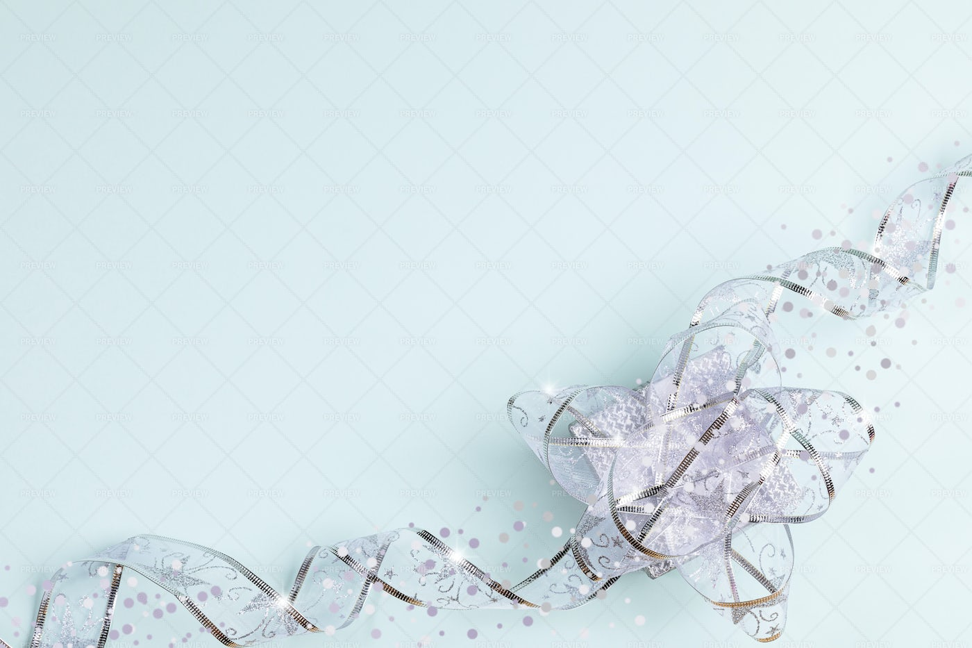 Holiday Background With Bow.: Stock Photos