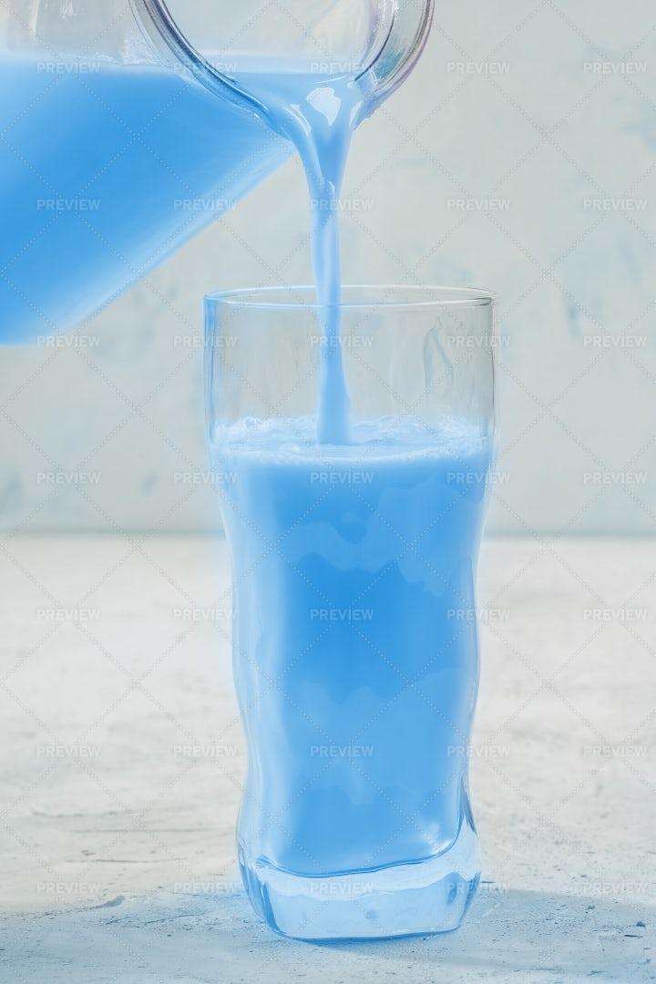 Pouring Moon Milk: Stock Photos