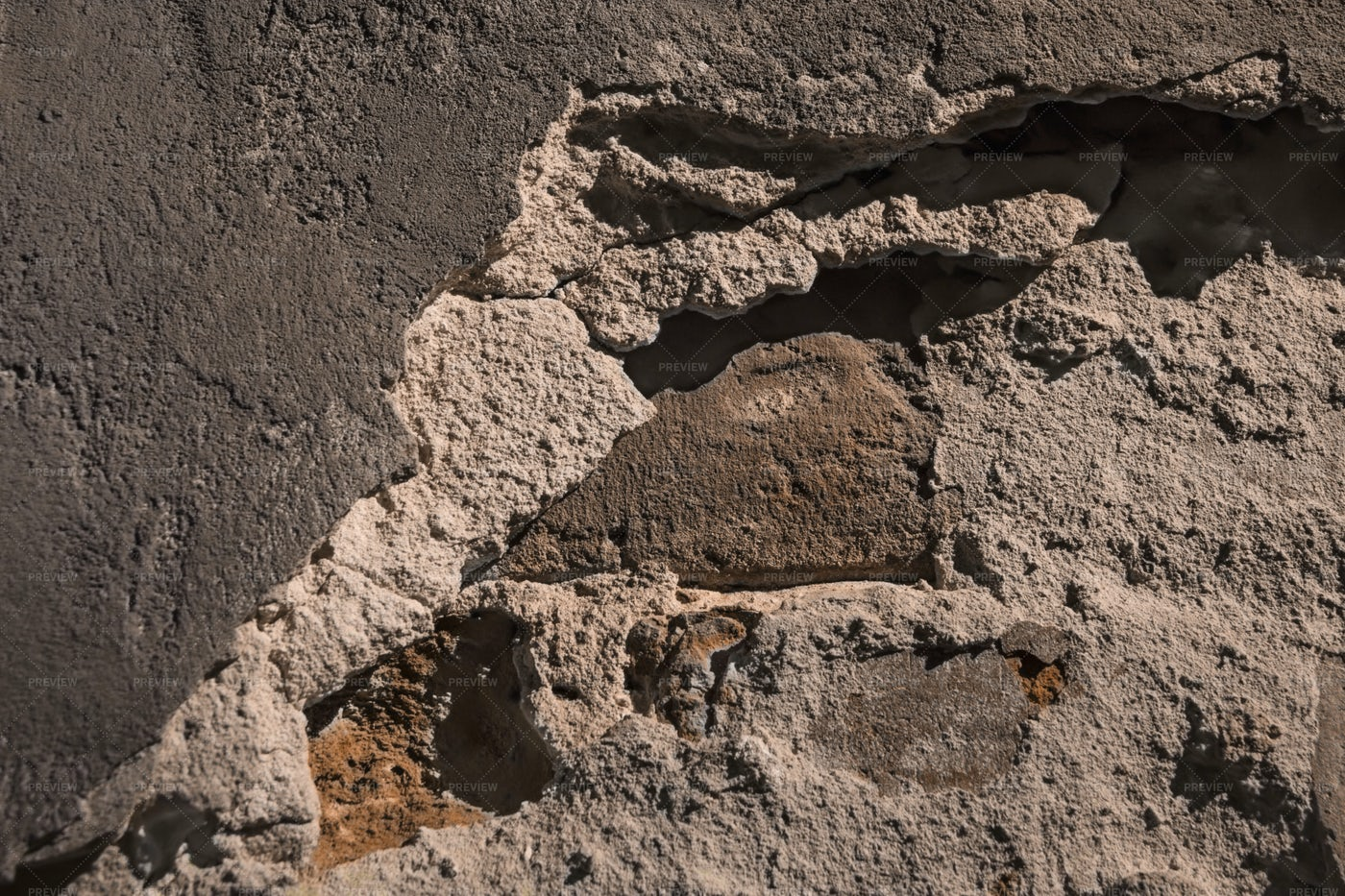 Texture Of Ancient Stone Wall Close-up: Stock Photos
