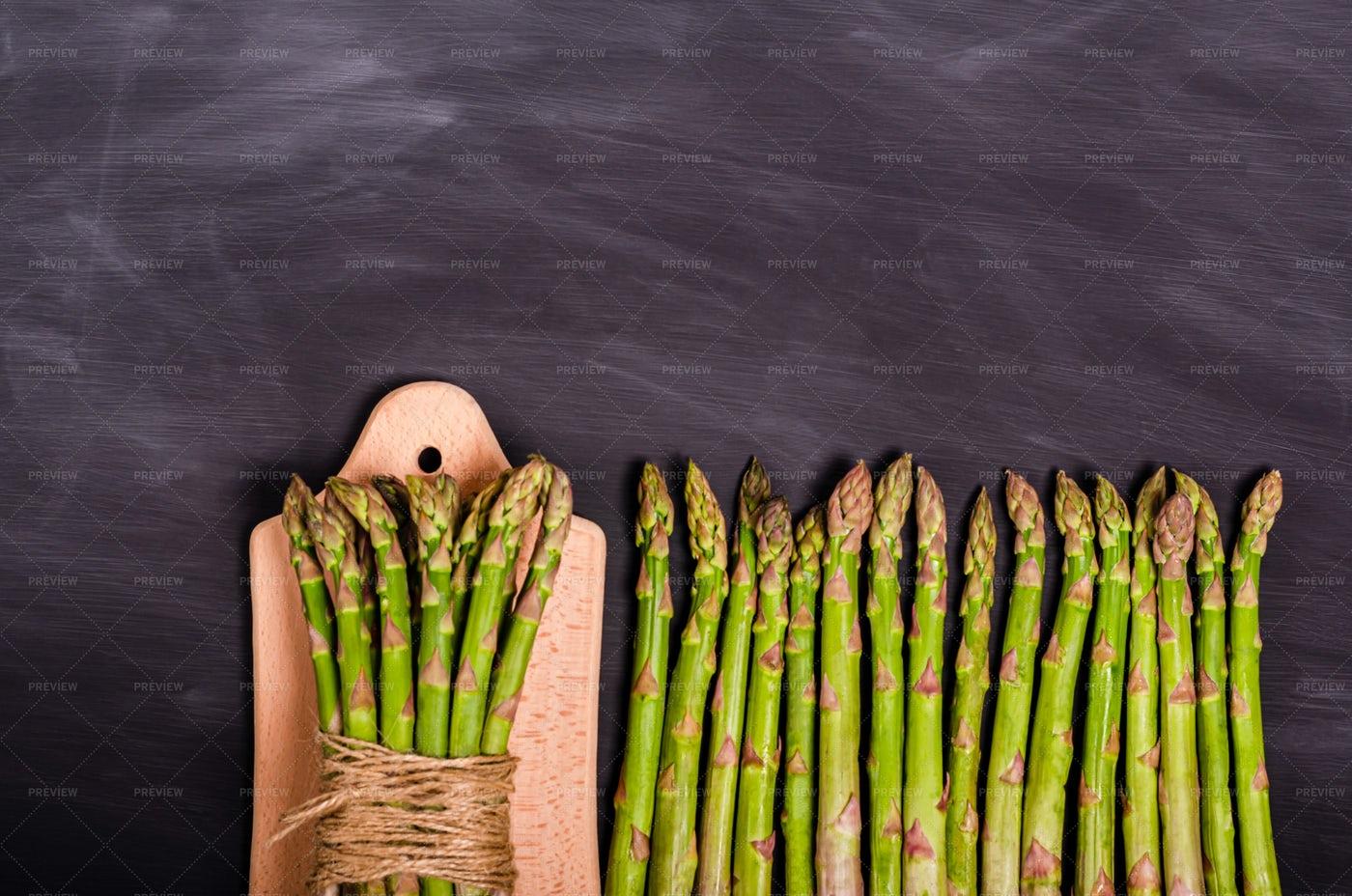 Asparagus On A Board: Stock Photos
