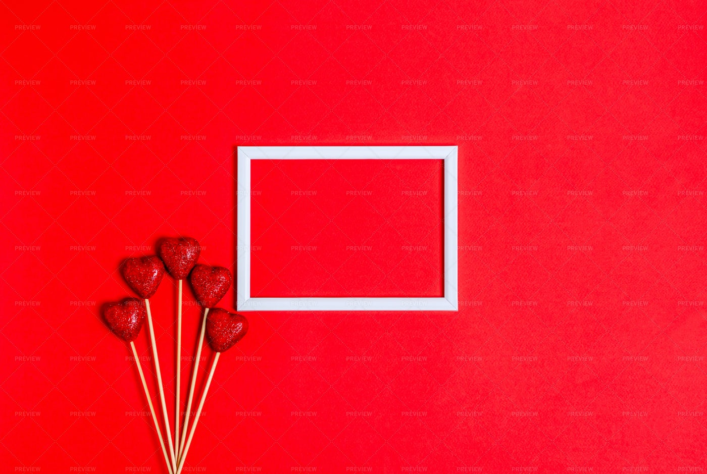 Hearts And Frame: Stock Photos
