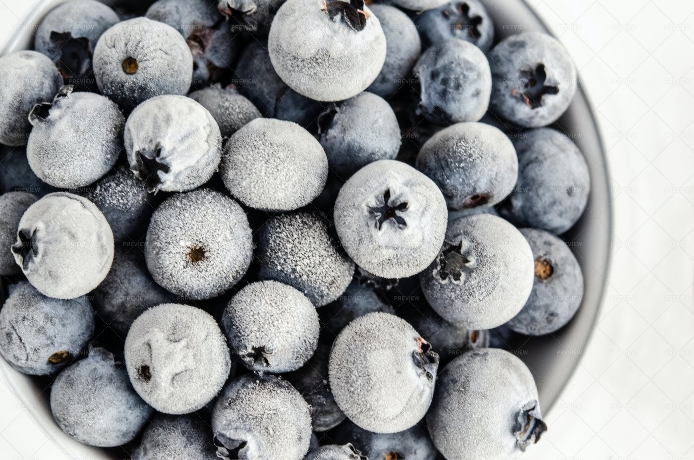 Frozen Blueberries: Stock Photos