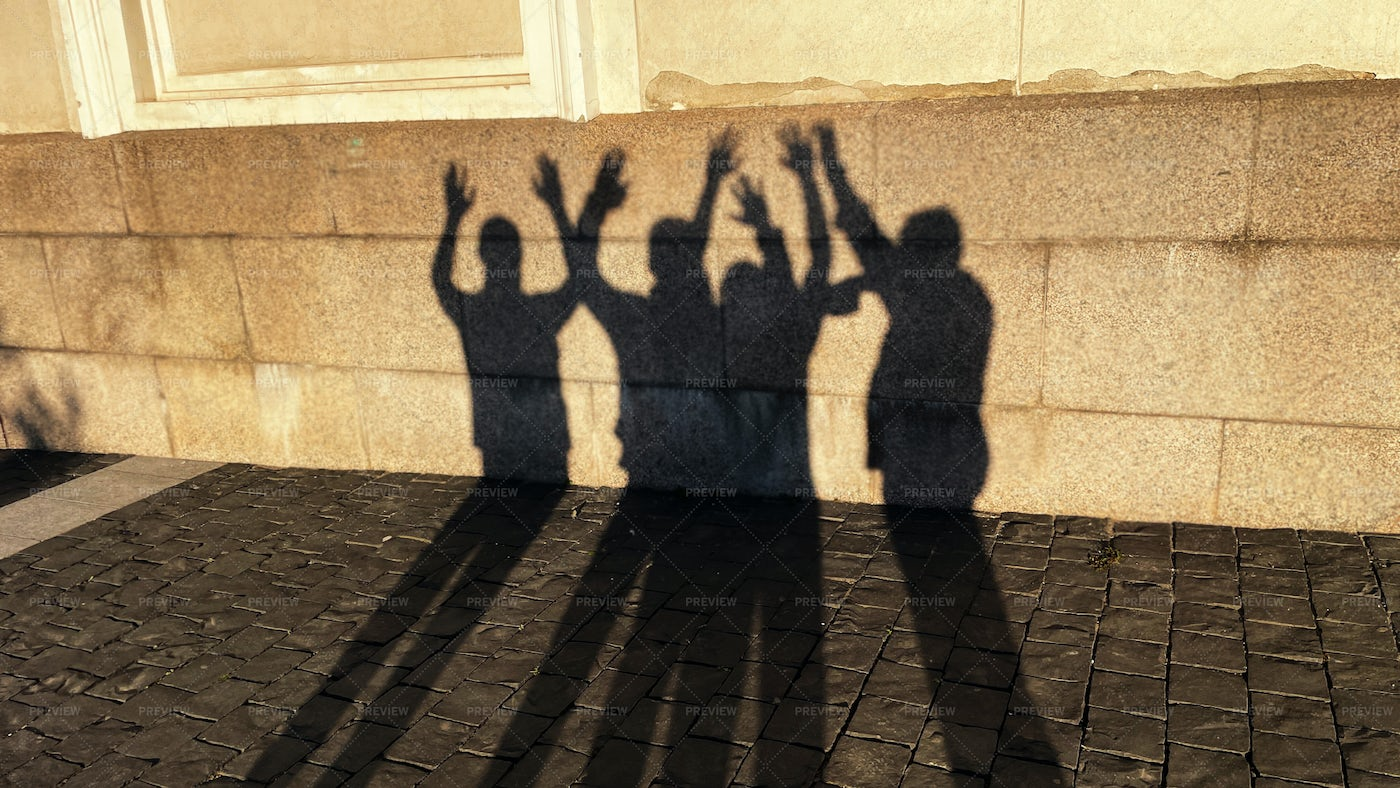 Shadows Of People: Stock Photos