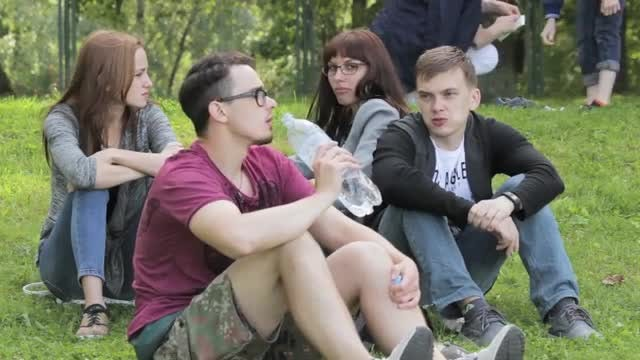 Young Friends At A Picnic: Stock Video