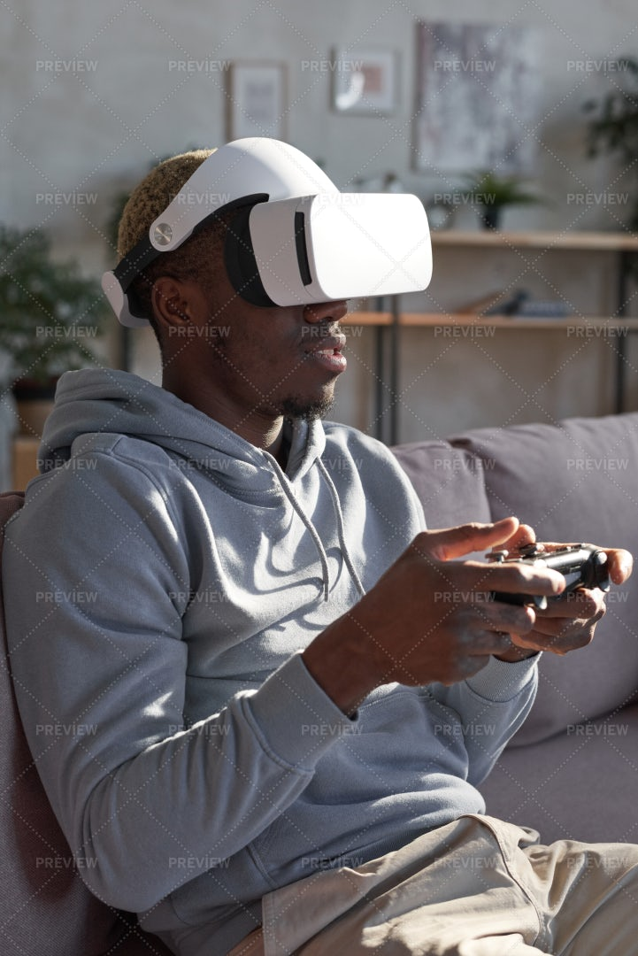 Man Playing Video Game: Stock Photos