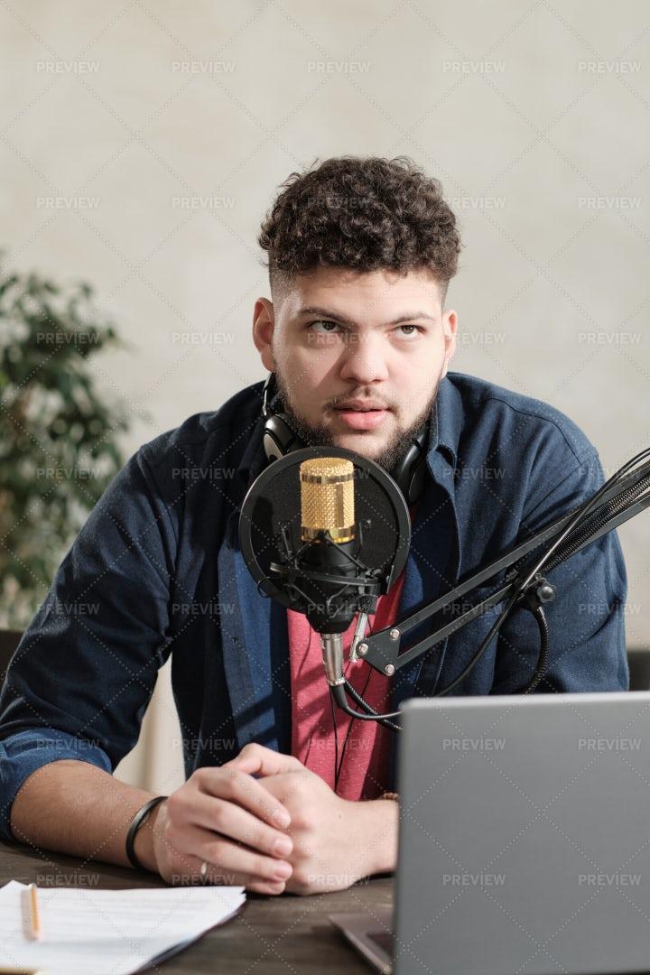 Radio Dj At Work: Stock Photos