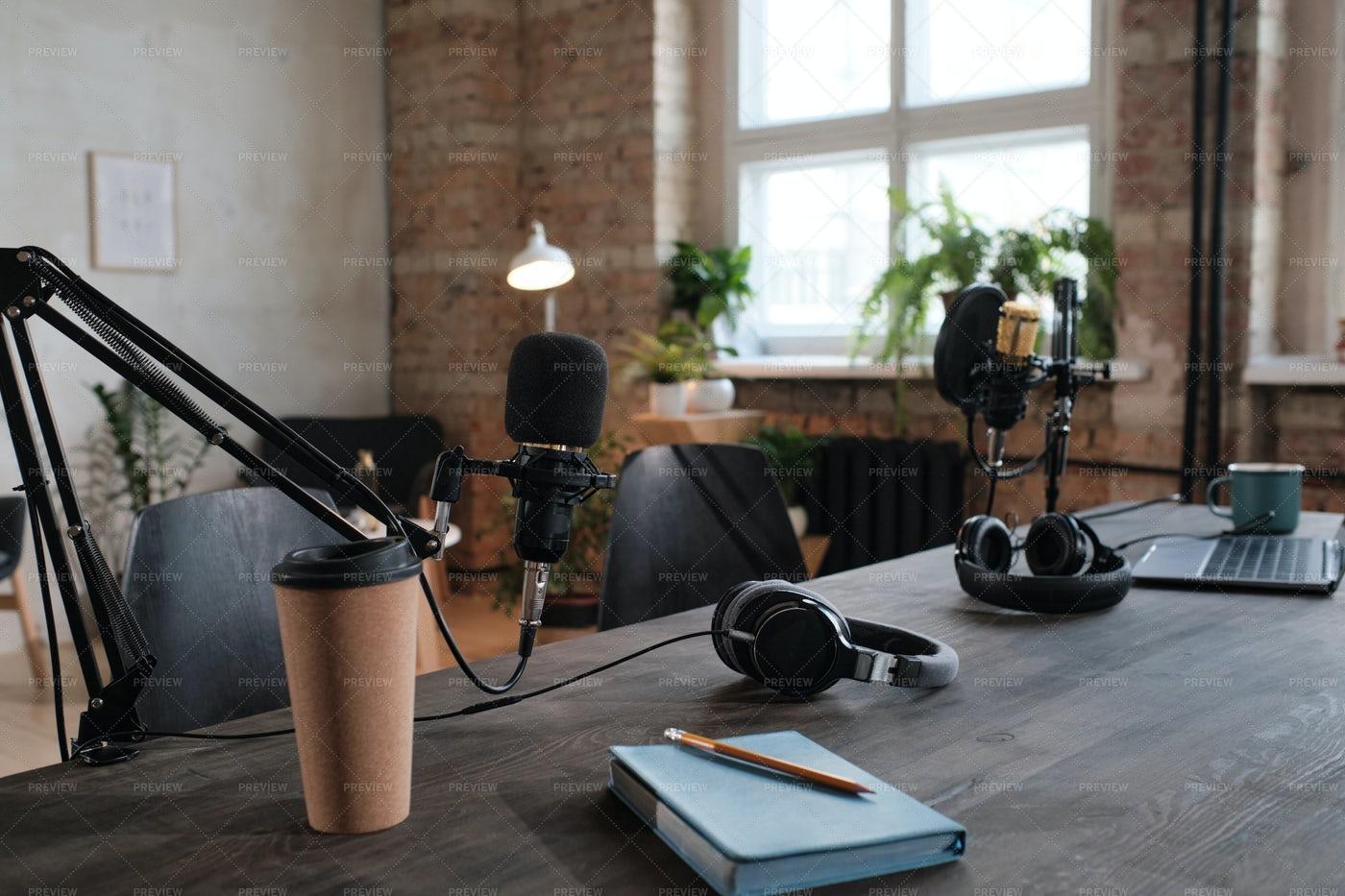 Workplace In Recording Studio: Stock Photos