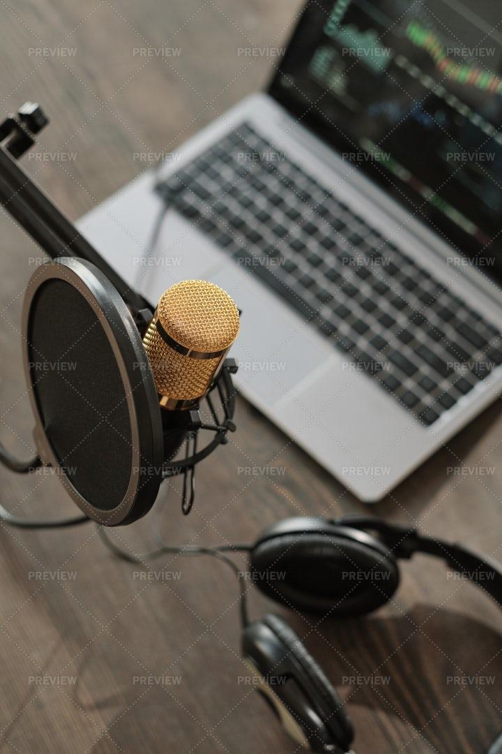 Recording Studio With Microphone: Stock Photos