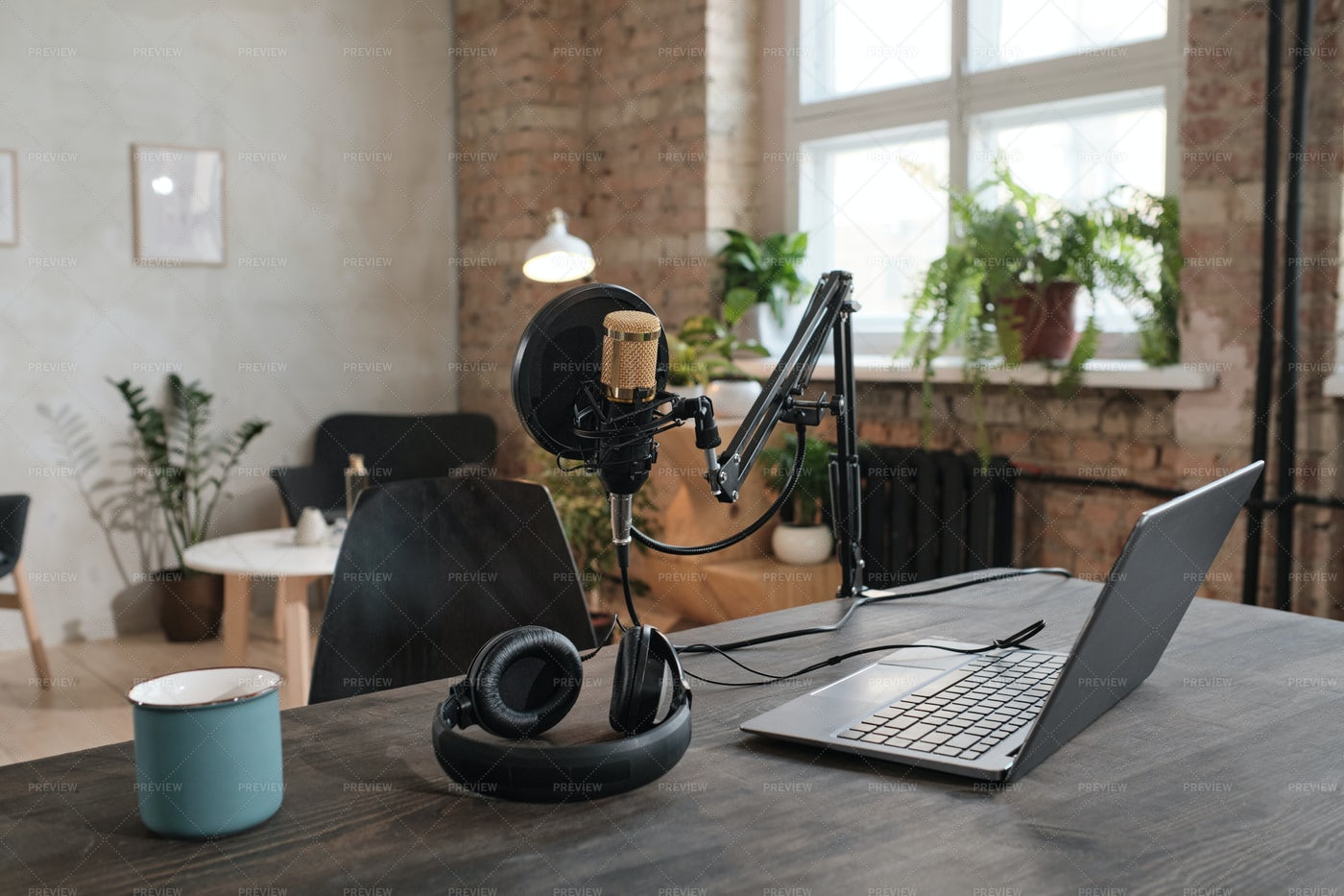 Modern Office In Studio: Stock Photos