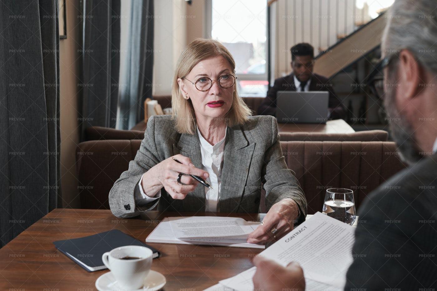 Businesswoman Having A Meeting: Stock Photos