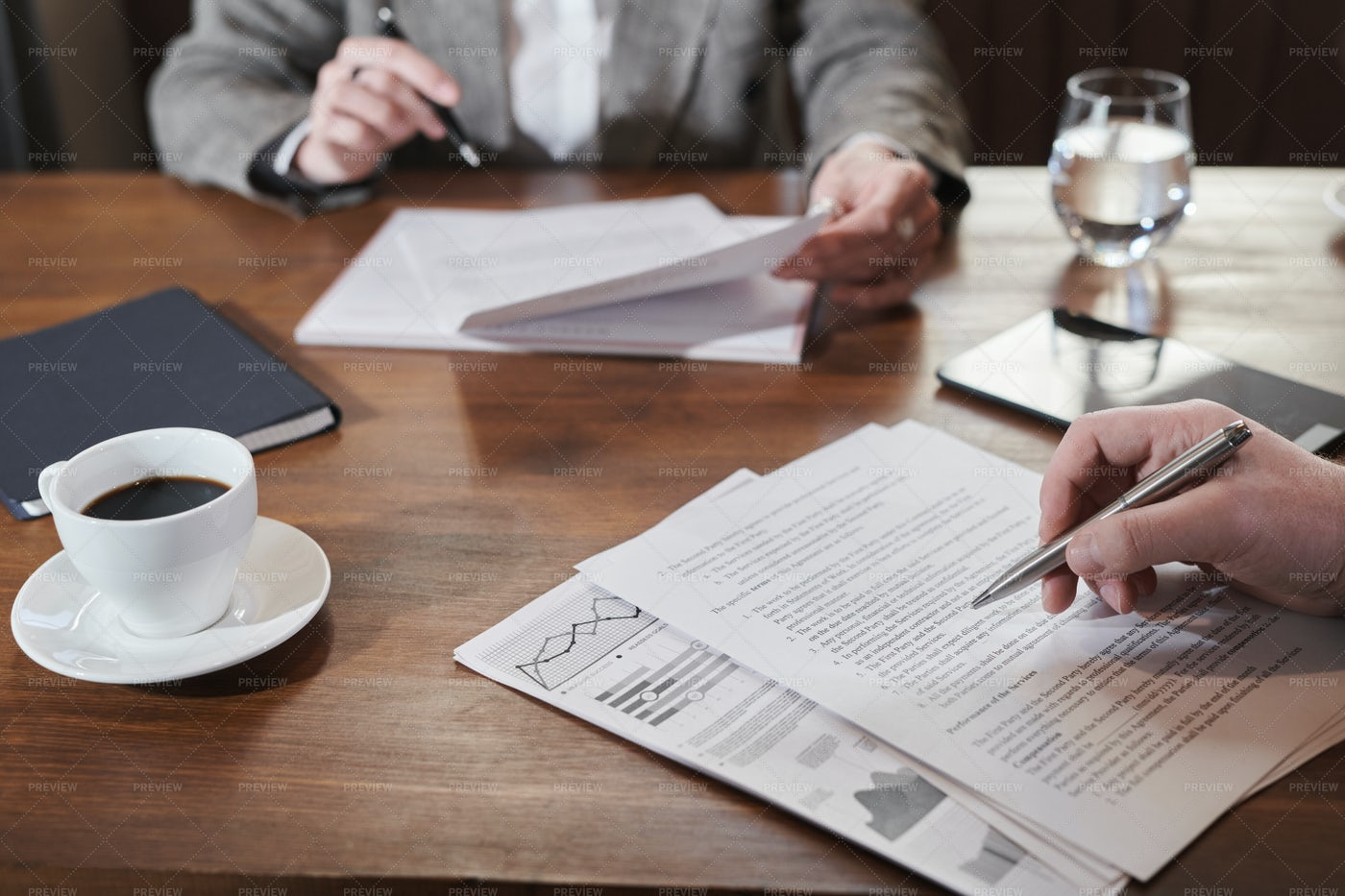 Reading Business Contract: Stock Photos