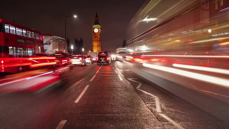 Westminster and Big Ben Time-lapse, London: Stock Video