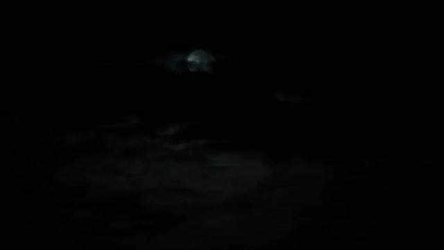 Full Moon Covered By Clouds: Stock Video