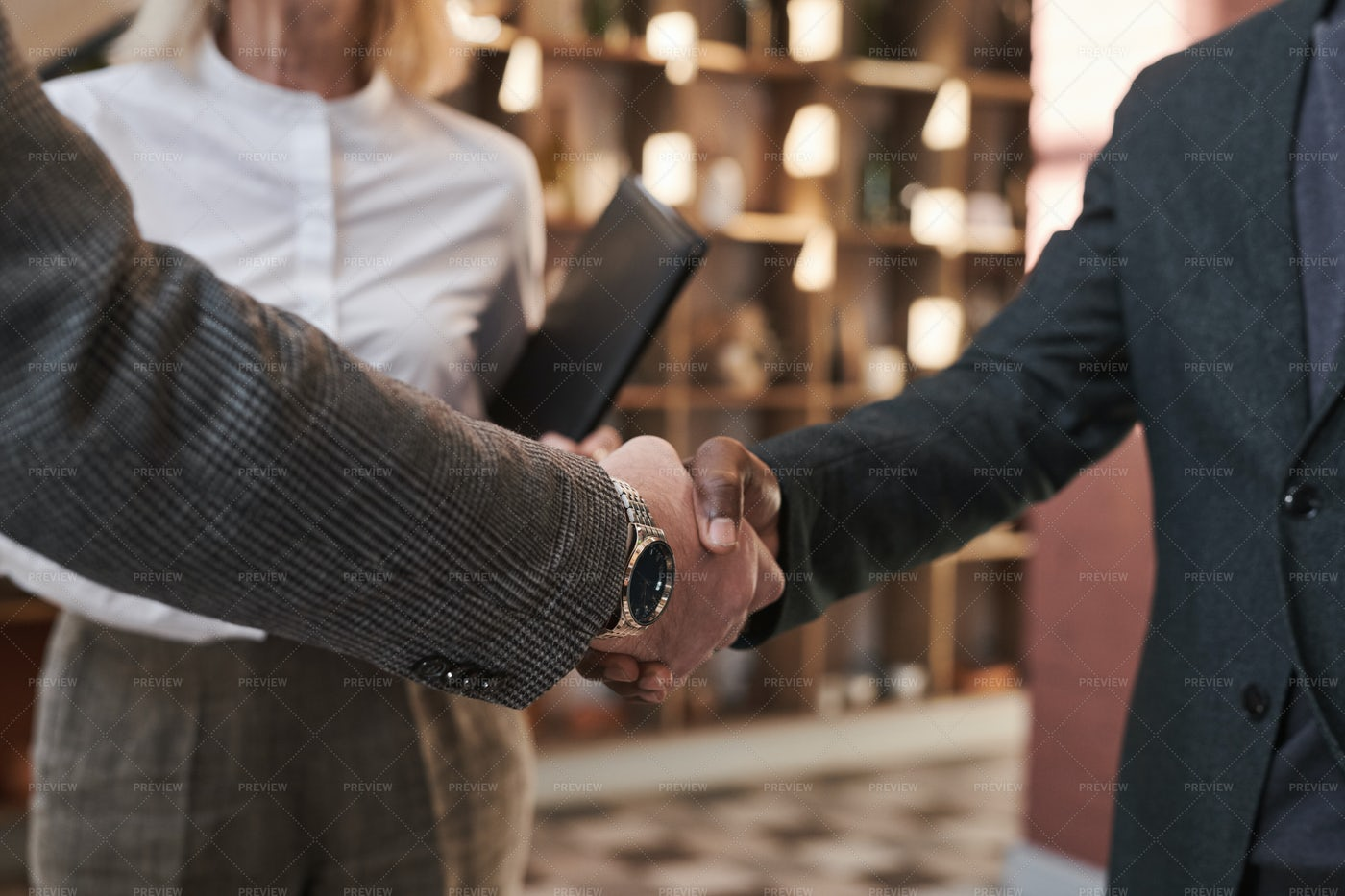Business Handshake During Meeting: Stock Photos
