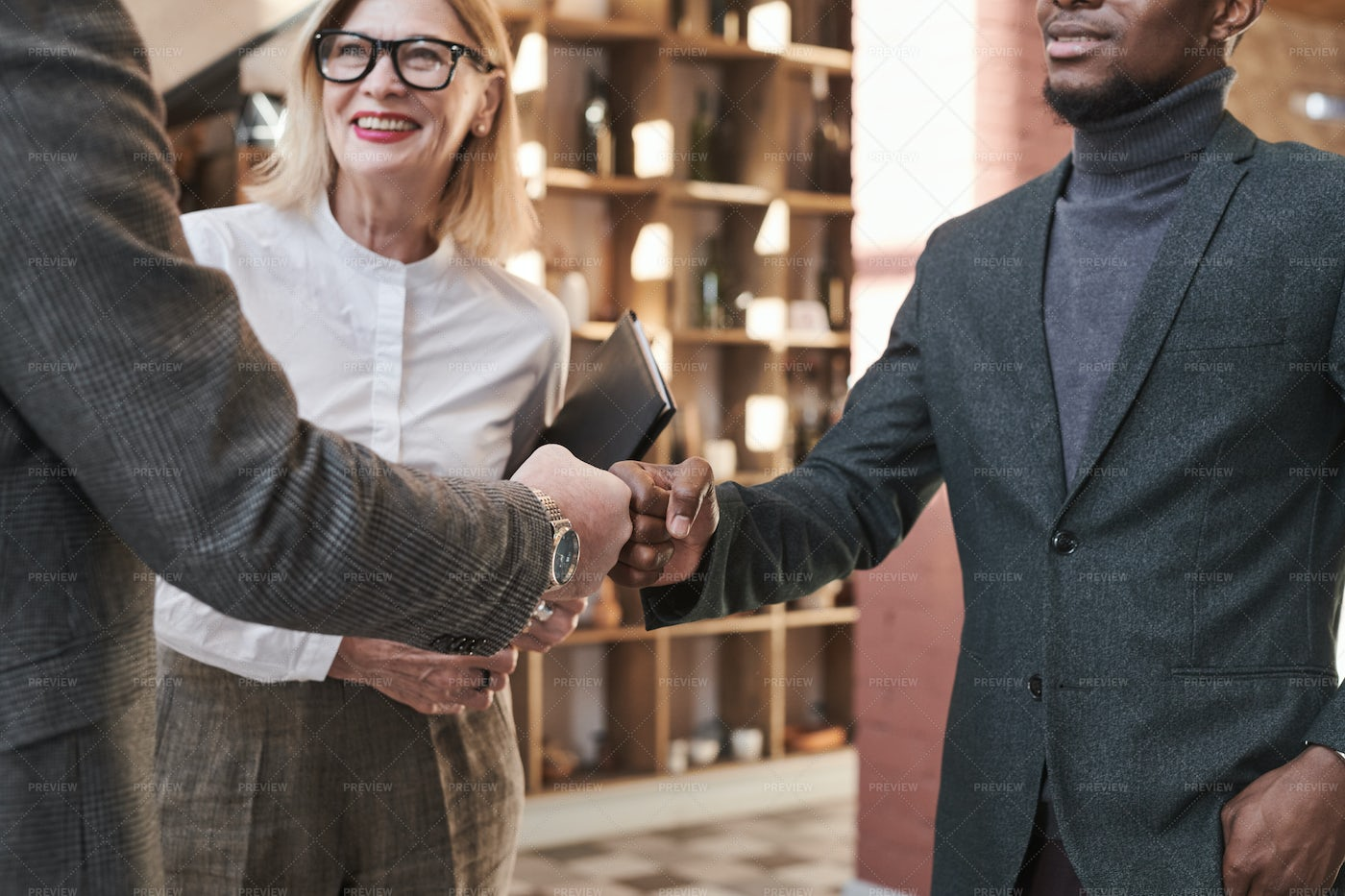Business Partners Greeting Each Other: Stock Photos
