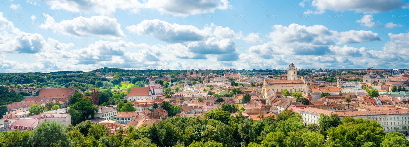 Panorama Of Vilnius: Stock Photos
