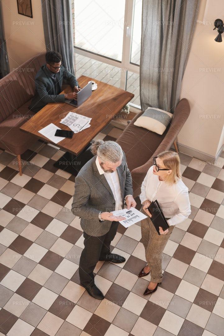 Businesspeople Interacting: Stock Photos