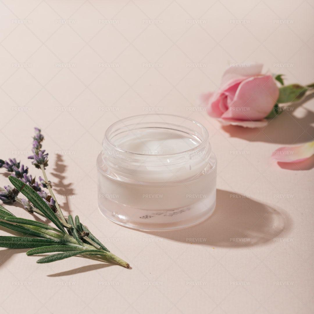 Natural Cream Container: Stock Photos
