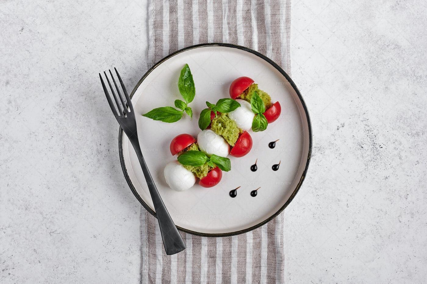 Fork On A Salad Plate: Stock Photos