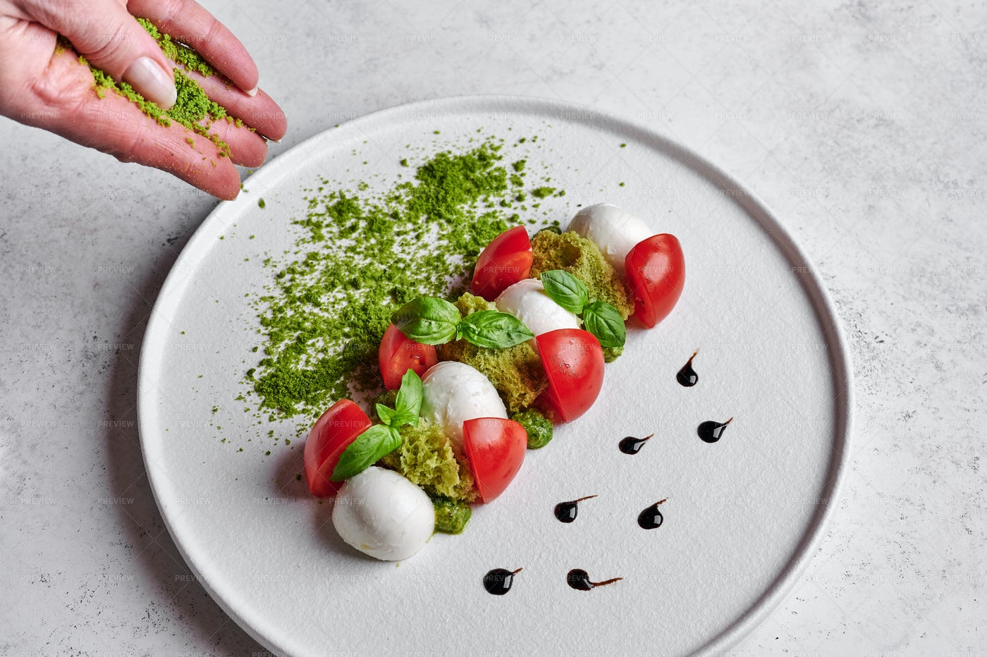 Decorating A Salad Plate: Stock Photos