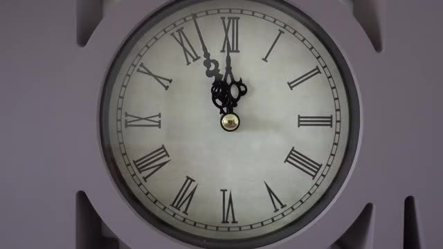Close-up Shot Of Clock Ticking: Stock Video