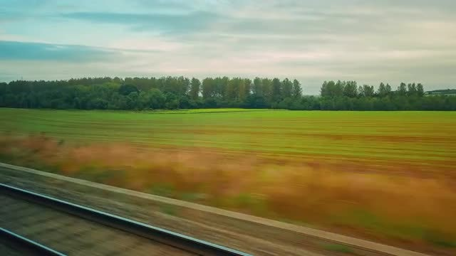 Train Journey Across Countryside: Stock Video