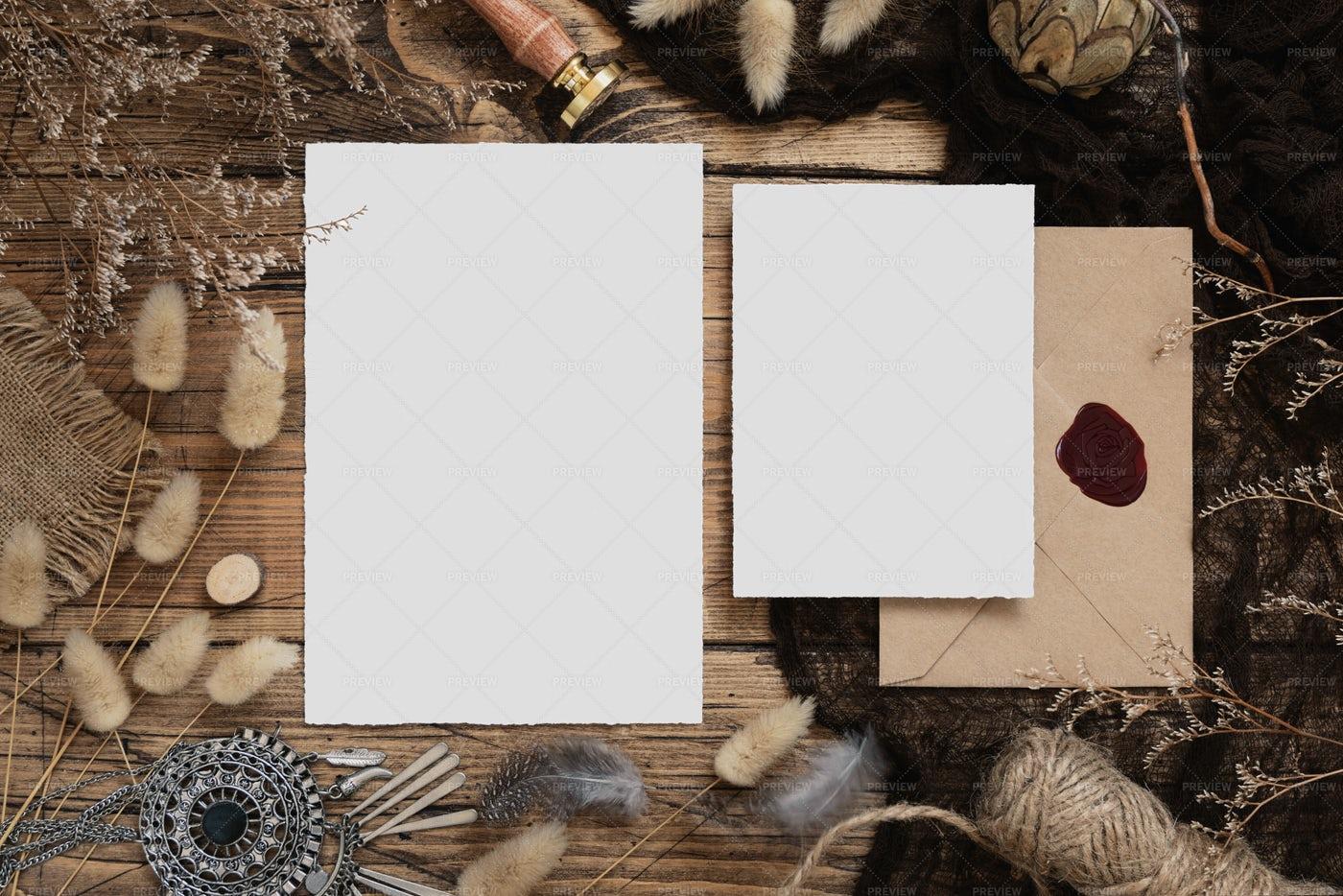 Wedding Stationery Set: Stock Photos