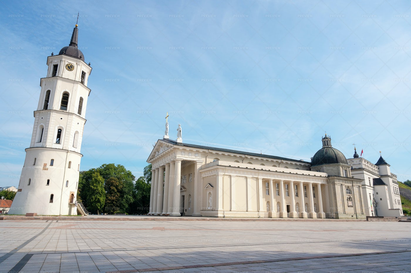 View Of Vilnius Cathedral: Stock Photos