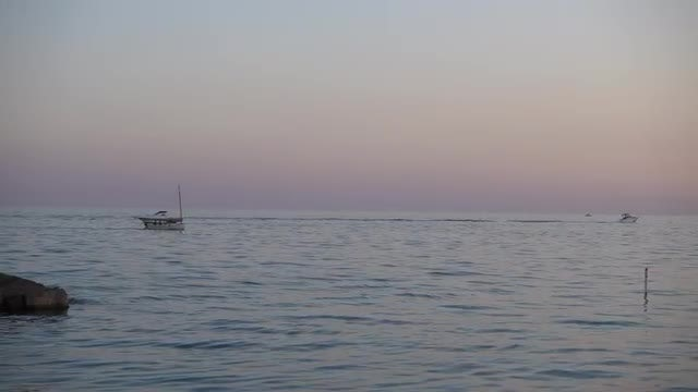 Boats Sailing On The Sea: Stock Video