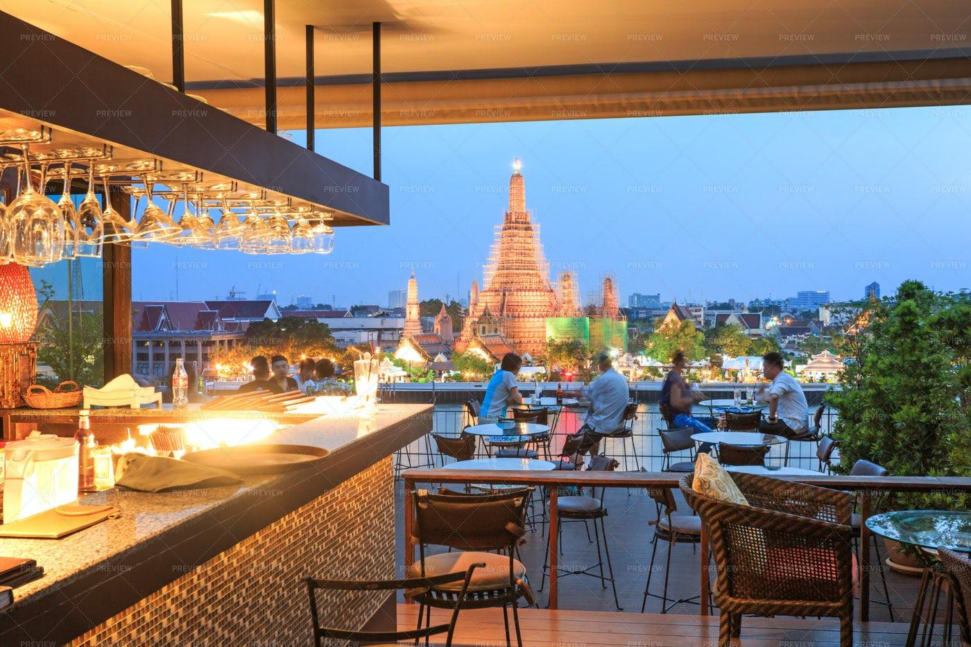 Roof Top Bar In Bangkok: Stock Photos