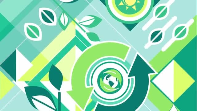 Ecology Vector Background Loop: Stock Motion Graphics