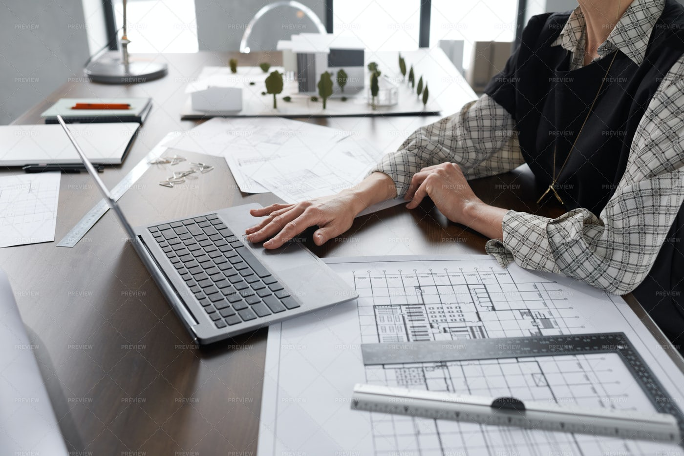 Architect Working At Office: Stock Photos