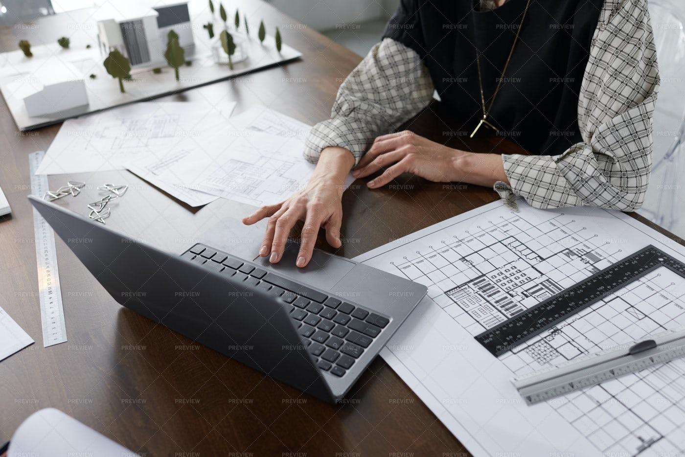 Architect Working On Laptop: Stock Photos