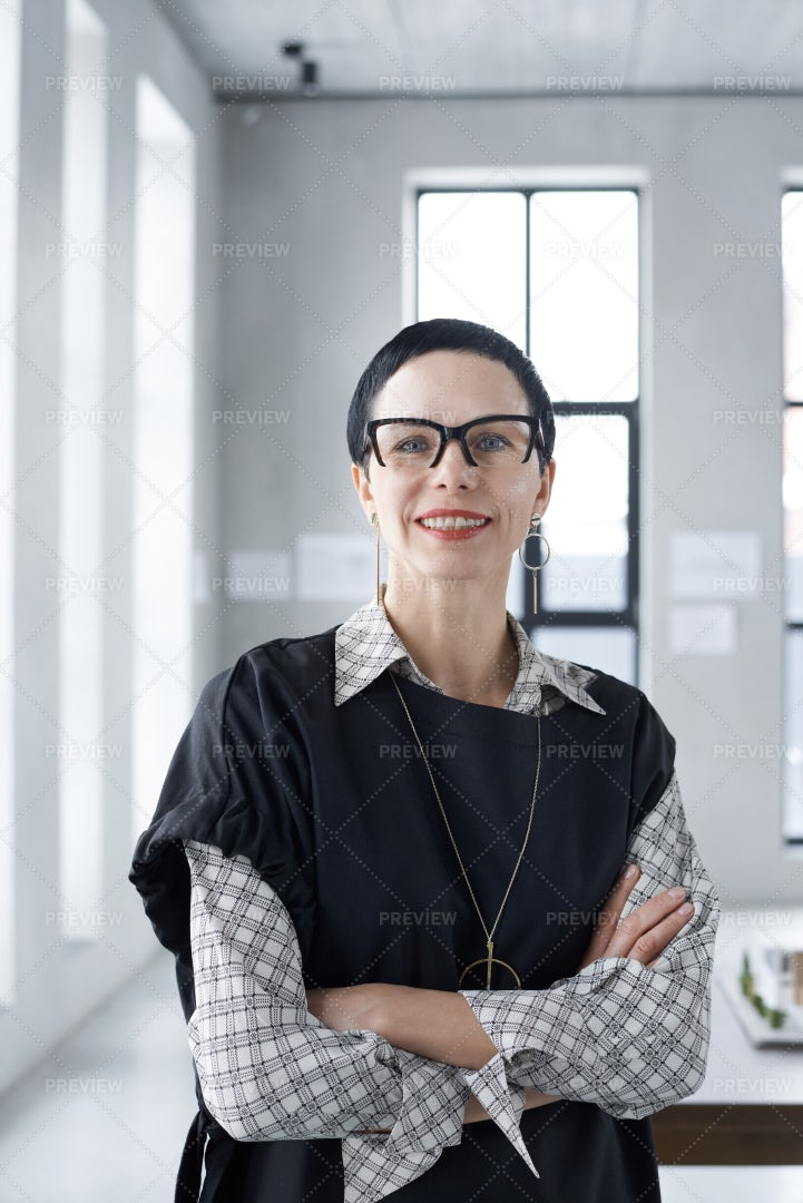 Successful Businesswoman At Office: Stock Photos
