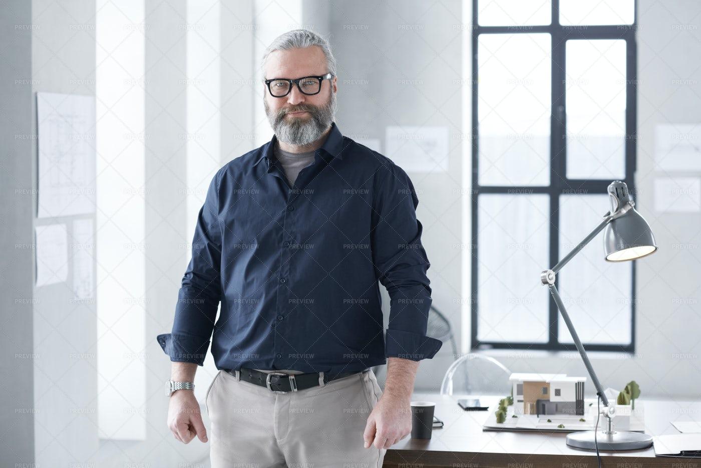 Portrait Of Experienced Architect: Stock Photos