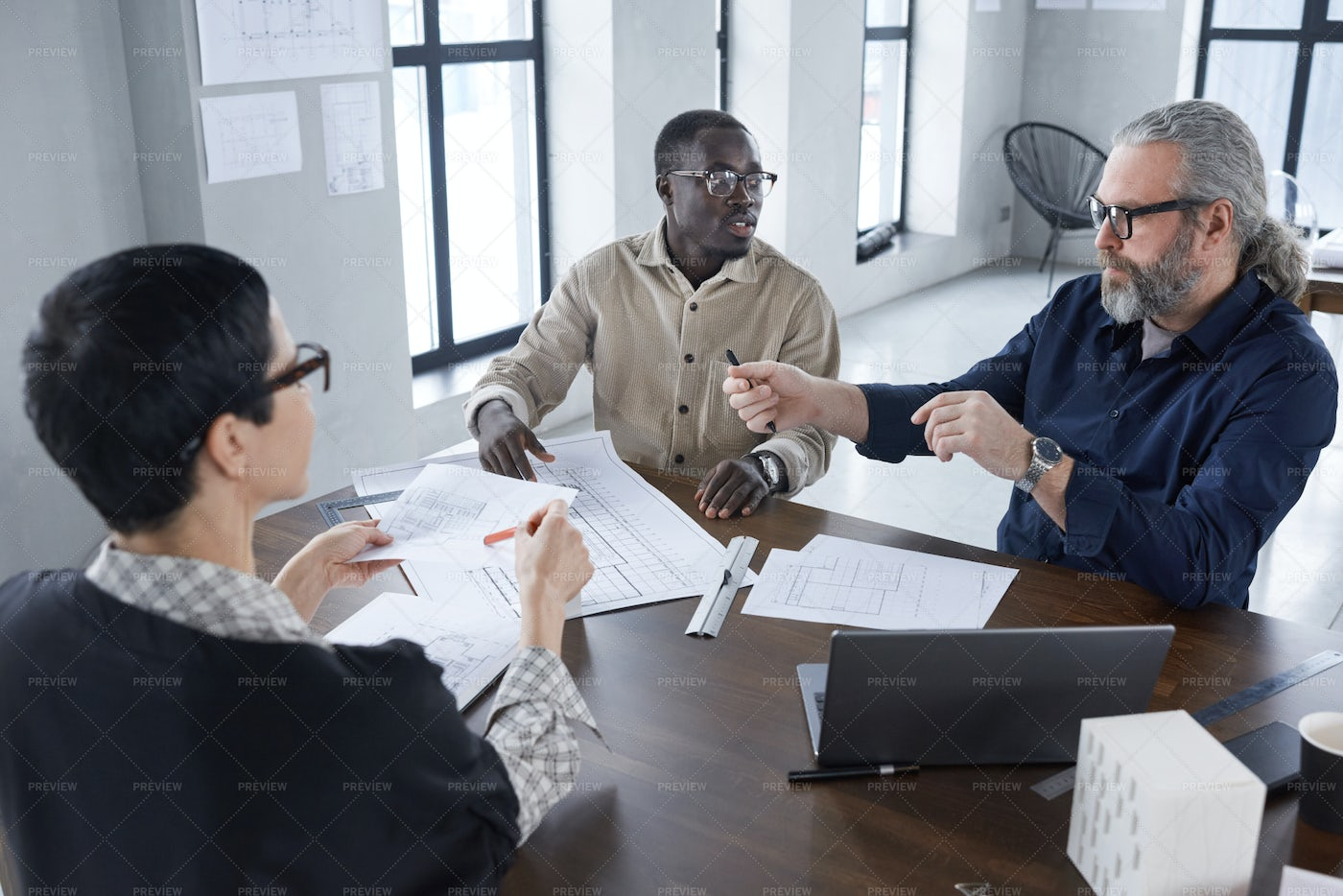 Architects Having Business Meeting: Stock Photos