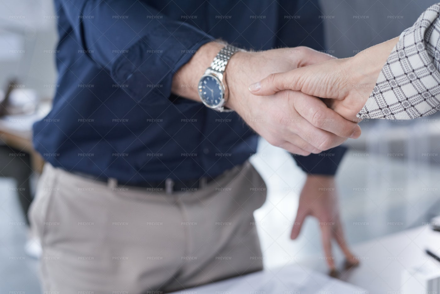 Business People Greeting Each Other: Stock Photos
