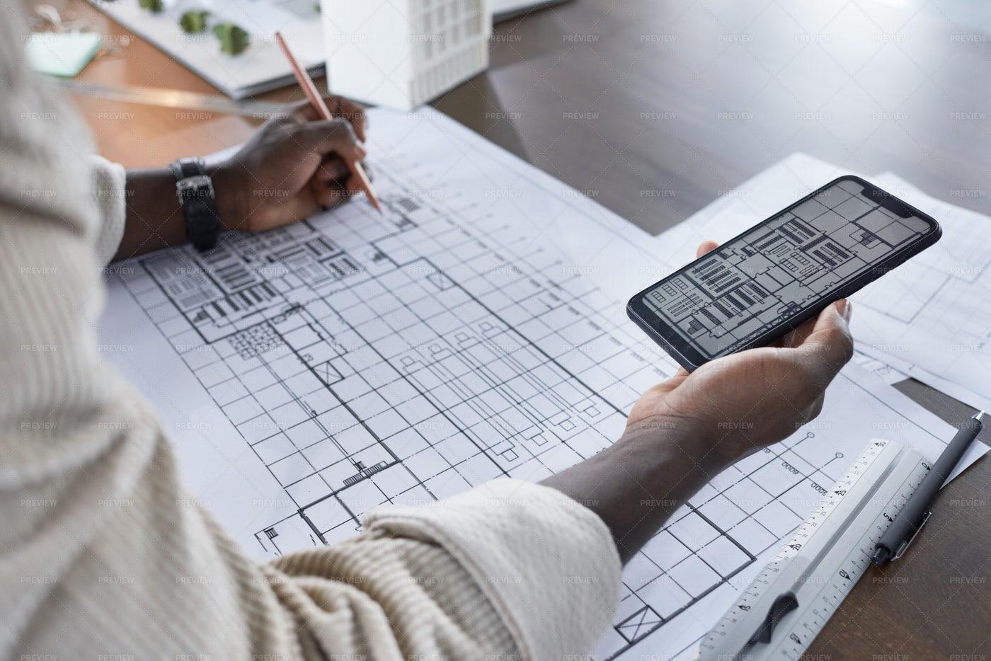 Drawing Blueprint Online: Stock Photos