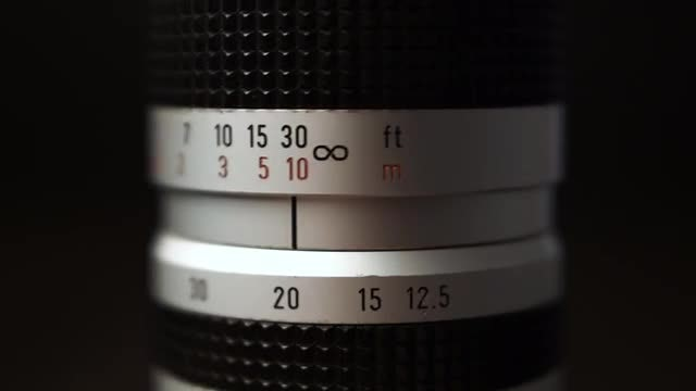 Camera Lens Focusing: Stock Video