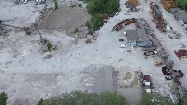 Aerial Shot Of Construction Company: Stock Video
