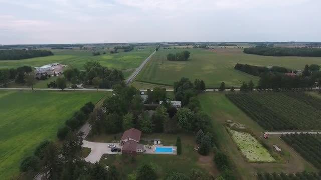 Revealing Shot Of Rural Farmlands: Stock Video