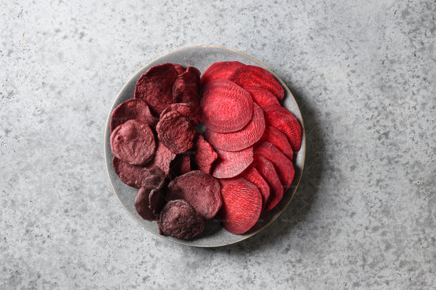 Beetroot Chips And Slices: Stock Photos